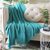 Morbido tappezzeria tappezzeria copriletto con tappezzeria con nappa per il letto divano plaid viaggi tv coperte
