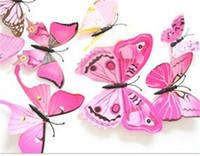 Butterfly Simulación Frigorífico Imán 3D Animal Color PVC Pegatina de pared Cabello de boda Cabello Kids Accesorios Accesorios Adorno Broche Nuevo 1 6DJ M2
