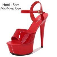 Shuzumiao Frauen Schuhe Sexy Show Sandalen 13 15 17 cm Platform Sandalen Mädchen Schuh High Heels Party Club Drop Sale Stripper Schuhe C0129