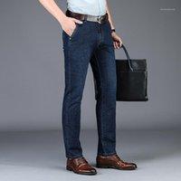 Jeans da uomo Odinokov pesi massimi a lunghezza intelligente casual 2021 Pantaloni da uomo Jeansdenim regolari da uomo Slim Fit Cotton Blend Pantaloni1