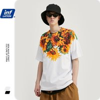 Инфляция Мужчины футболки цветы и растения Печать негабаритные Свободные Fit Thirt для мужчин Хлопок Хараджуку Мужчины смешные футболки 1152S20 200924