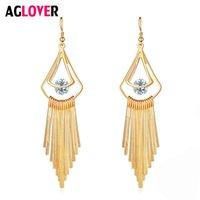 Stud Aglover Europe personalisierte Ohrring Charm Wild Shining Zirkon Gold Silber Ohrringe für Frauen Hochzeit Schmuck Geschenke