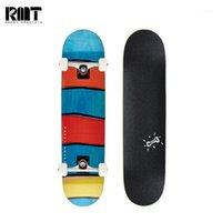RMT abgeschlossen Skateboard 8,0 Zoll 7pl Canadian Ahorndeck Double Rocker Erwachsene Jungen Mädchen Kurzbrett Anfänger Cruiser1