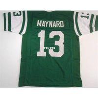 3421 Don Maynard # 13 Dikişli Dikişli Retro Jersey Tam Nakış Jersey Boyutu S-4XL veya Özel Herhangi Bir Ad veya Numara Forması