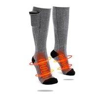 Sports Socken Baumwollheizung Ferninfrarotkompresse Elektrische Beheizte Einstellbare Lithiumbatterie 3.7V Strümpfe Für Männer Frauen