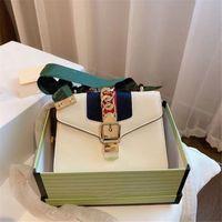 2021 Klasik Lüks Tasarımcı Sylvia Donanma Kadın Moda Omuz Çantaları Yay Elmas Kafes Omuz Ile Vintage Yüksek Kaliteli Ucuz Flap Çanta