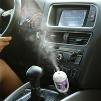 NEW USB 자동차 플러그 가습기 신선한 상쾌한 향기 ehicular 에센셜 오일 초음파 가습기 아로마 미스트 자동차 디퓨저 FY7319