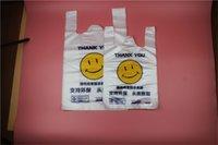 Bolsa de plástico de la sonrisa bolsa de mano para supermercado Frutas de compras Verduras Organiza el soporte de almacenamiento Reutilizable Producir alimentos Bolsa de alimentos