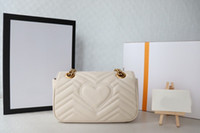 2021 Vendite di eleganti donne in vera pelle da donna di lusso borse di lusso di alta qualità borse a spalla singola vita classica lettera catena chiave borsa