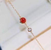 Braccialetto di fascino con un pendente per perline e diamante per le donne regalo di gioielli da sposa spedizione gratuita PS8268