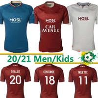 FC Metz Futebol Jerseys Diallo 20 Centonze 18 Vagner 27 Niane 7 Fofana 6 Home 2020 2021 Jersey Camisas de futebol Tailândia 20 21