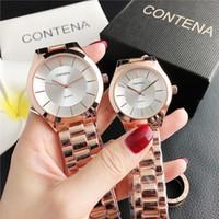 Beste Qualität Männer Frauen Quarz Edelstahl para relojes Full uhr stahl stahl strass armbanduhren frau mujer xfcs uhr contesen oqwri