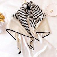 الأوشحة العلامة التجارية 2021 أنثى الربيع تصميم الأزهار طويل 100٪ الحرير وشاح شال الخريف الشتاء النساء الرقبة الحجاب فولارد