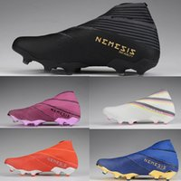 Nemeziz 19+ Mens Youth Junior Soccer Cleats FG 302 리디렉션 팩 신발 야외 축구 부츠 어두운 스크립트 Hardwired Inner Game Polarize Pack