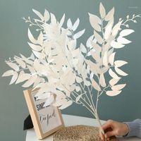 Artificial Willow Bundle Falso Folhas Bulrush Natural Pequeno Pequeno Pampas Grama Phragmites Para DIY Home Casamento Partido Decoração1