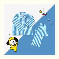 Costume de vêtement de nuit pour femme de nuit pour femmes pour femmes vêtements de chambre à coucher Ensemble hiver chaud manches longues pyjamas lingerie sommeil vêtement de nuit 201113
