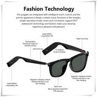 E9 نظارات بلوتوث الذكية دعوة الهاتف نظارات شمسية اللمس سماعات بلوتوث سماعة ستيريو لعبة تلعب التحكم الصوتي مشغل موسيقى المتكلم TWS