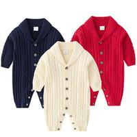 Tricot hiver bébé baptiseaux à manches longues bébé garçons filles combinaisons vêtements coton automne tricoté enfant nouveau-né enfant toddler enfants