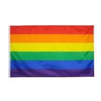 Лесбийский бисексуальный трансгендер ЛГБТ радуга прогресс гей гордости флаг прямой завод оптом 3x5fts 90x150см