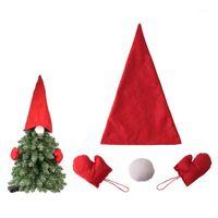 Arbre de Noël top top boat gants gnome costume bricolage sapin sapin sanitaire dress up 2020 bonne année maison décor santa hat1