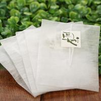 6000 PCS Bolsas de té de fibra de maíz Forma de pirámide Filtro de sellado térmico Filtro de té PLA Filtros de té Biodegrado 5.8 * 7 cm GH1230