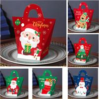 Jul Eve Presentförpackning Santa Claus PaperCard Nuvarande Party Favorit Aktivitet Box Röd Nyår Paketlådor Presentkassar HH9-3633