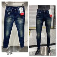 Neue Designer Jeans Berühmte VLSS Casual Brand Designer Design Weiß Slim Modile Slim Bein Jeans Motorrad Hosen Hosen Männer Frau