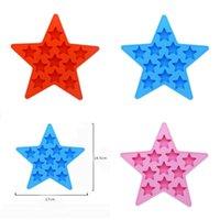 Moldes de estrellas Eco amigable encantador jalea gel de sílice Molde de hielo originalidad calidad superior con colores rojos azules 4 5nya j1