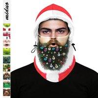 Maschera natalizia Bambino Adulto Inverno Inverno Sci da esterno Cappuccio Regolabile Copricapo Stampa digitale Maschere di stampa Digital Decoration Cover Zy68