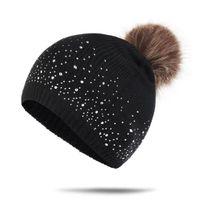 Детские дрель вязаные Pompon Hats 6 цвет дизайна девушки шансы поворот шерсть осень зима малыша детские шляпы растворитель Помпон теплые шляпы PPA3028