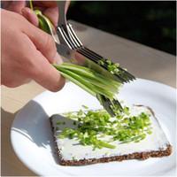 Инструменты для приготовления пищи из нержавеющей стали Кухонные аксессуары Ножи 5 Слои Ножницы Sushi Shredded Scallion Cut Herb Специи Ножницы