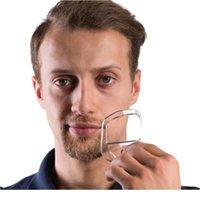 5pcs / lot Beard peigne de la brosse à cheveux Coupe symétrique Coupe de salon Moustache Modèle de coiffage de la barbe pour la barbe Formation de cheveux Brops de cheveux Trimm JLLCDM