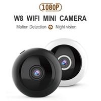 Mini telecamere W8 HD 1080P Camera Telecamera WiFi Visione notturna a infrarossi Micro IP Wireless IP Video Motion Detection DV DVR Piccola videocamera