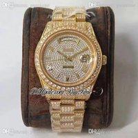 2021 TWF DATE-DATE 40 228348 ETA A2836 A2836 Automatique Homme Montre 904L SS YG Pull Pavé Diamants Bracelet Marqueurs Roman Best Edition Puretime C3