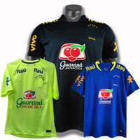 최고의 새로운 2020 2021 축구 착용 캐주얼 티셔츠 축구 브라질 훈련 유니폼 셔츠