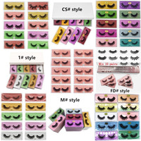 3D 밍크 속눈썹 5D 6D 속눈썹 거짓 속눈썹 6 스타일 눈 속눈썹 확장 화학 섬유에 의한 풀 스트립 아이 속눈썹 무료 배송