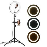 Cabeças flash 10 polegadas Desktop LED video anel lâmpada de luz usb Powered para YouTube Live Gravação de Rede Broadcast Maquiagem