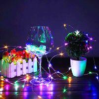 무료 배달 2m 20 LED 미니 병 마개 램프 문자열 막대 장식 문자열 빛 다채로운 빛 지구 색상 전체 소재 LED 문자열