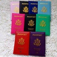 Viagem Bonito EUA Capa de Passaporte Mulheres Rosa EUA Titular Passaporte Americano 9 Cores Coberturas Para Passaportes Meninas Caso Passaporte Carteira