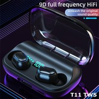T11 TWS Cuffie senza fili Bluetooth 5.0 Auricolari in-ear 3300mAh Charging Bin Auricolari stereo IPX7 Sport Auricolare impermeabile per cellulare