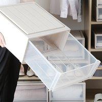 플라스틱 저장 상자 주최자 홈 침실 대용량 식료품 주최자 두꺼운 서랍 휴대용 스택 가능 파일 스토리지 캐비닛 VT1868