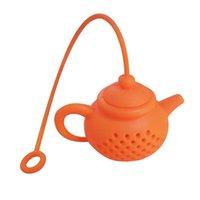 Silikon Çaydanlık Şekli Çay Filtresi Güvenle Temizlik Demlik Kullanımlık Çay Kahve Süzgeç Çay Kaçakları Renkli Brew Çanta Mutfak Aletleri 45 P2