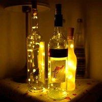 Hızlı teslimat 2 m 20 led mini şişe tıpa lamba dize çubuğu dekorasyon dize ışık sıcak beyaz ışık dünya sarı yüksek kaliteli malzeme