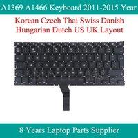 """İçin .3 """"Laptop A1369 A1466 Korece Çek Tayland İsviçre Danimarka Macar Hollanda Klavyeleri 2011-2020 Yıl Değiştirme1"""