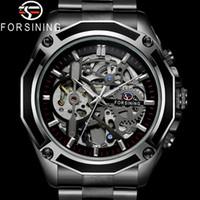 Annonce automatique Mécanique Hommes Montre Militaire Sport Military Heurt Horloge Top Brand Marque Luxe Black Steel Squelette Nouvel homme Montre 8130 Y1214