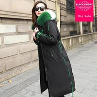 Winter fashion brand super big natural fur coat 90% duck dow...