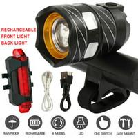 T6 LED MTB traseira + conjunto dianteiro 15000lm luzes de bicicleta luzes de bicicleta USB recarregável Y200920