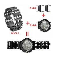 Relógio de 2.45cm Link Fivela de aço inoxidável Multifunction Ferramenta de piso ao ar livre Sports Bracelet Acessórios para gota ajustável