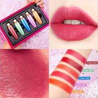 Régleur de maquillage River Star Fluorescent Lipstick Set Mat Hydratant Hydratant longue durée durable Lipstick 5pcs Set