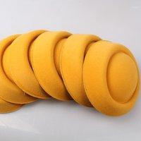 Nave gratuita Gold o 20 color 16cm Fascinator FAILLINERIA FAI DA TE Accessori per capelli Pillbox Fascinator Bases Mini Cappello Top per occasioneMyQH0201